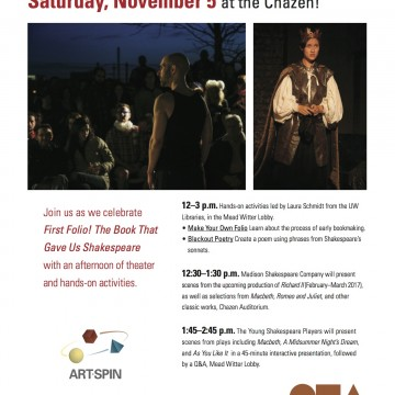Special First Folio performance, November 5