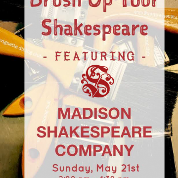 Madison Shakespeare at Vignette Dining Club, May 21