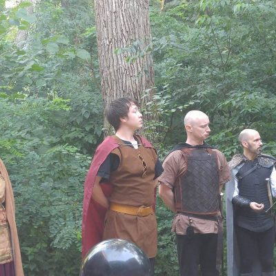 Macbeth, Banquo, and Fleance receive their due from King Duncan